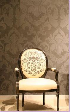 Skull print chair.