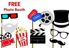 Free-Hollywood-Movie-party-Photobooth-Props                                                                                                                                                                                 More