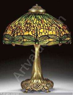 Louis Comfort Tiffany dragonfly lamp