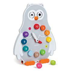 Janod owly ur, dobbelsidet - lær klokken