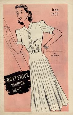 June 1938 Butterick Fashion