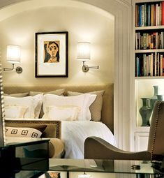 Architectural Digest: Penny Drue Baird [an arched nook for the headboard]
