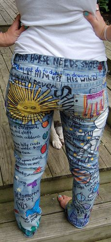 jeans - i had a couple pairs of jeans like this in High School. So fun.