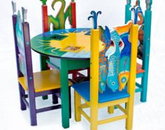 kids table and chairs on Etsy, a global handmade and vintage marketplace.