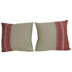 Pair of 1920s, French, Woven Pillows | From a unique collection of antique and modern pillows and throws at https://www.1stdibs.com/furniture/more-furniture-collectibles/pillows-throws/