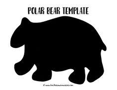 Free Polar Bear Template | Fireflies and Mud Pies
