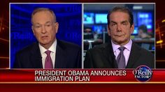 """Krauthammer: OBAMA'S ACTION IS AN INVITATION TO CROSS THE BORDER. OBAMA MADE AN ANNOUNCEMENT TO THE PEOPLE WHO ARE WAITING TO GET INTO THE U.S. LEGALLY THAT """"THEY ARE CHUMPS."""" Krauthammer SAID THAT THE PLAN IS """"AN INVITATION FOR ANYBODY TO COME ACROSS THE BORDER AND TO KNOW THAT ULTIMATELY THEY WILL BE LEGALIZED."""" 
