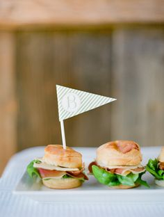 Southern weddings - custom food flag http://iloveswmag.com/2011/11/07/v4-feature-beautiful-biscuits/
