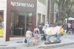 Rino Mania Rüno: Rinoceronte de Dürer Artista Quim Alcantara Rua Oscar Freire X Rua Bela Cintra  #SaoPaulo #OscarFreire #Fachada #Nespresso