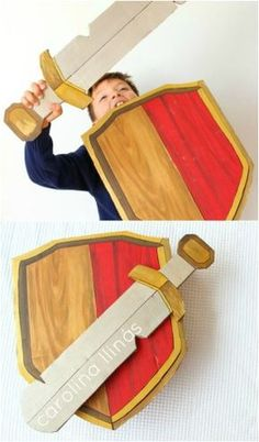 dig-cardboard-sword-and-shield-clash-of-clans