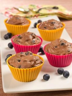 Blueberry-Chocolate Mousse Tarts » US Highbush Blueberry Council #littlechanges
