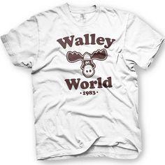 Walley World - National Lampoons Vacation Movie - Chevy Chase - Moose National Lampoons Vacation, Vacation Movie, Chevy Chase, Funny Shirts, Trending Outfits, Sleeves, Mens Tops, T Shirt, Clothes