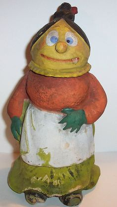 Vintage German Halloween Candy Container