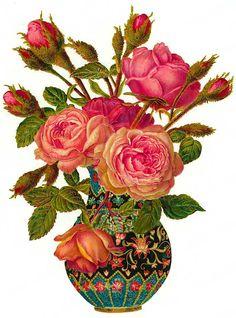 Roses in Vase - Roses dans un vase-Rosen in Vase http://s4.hubimg.com/u/646275.jpg