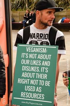 Keeping the ethical issue on top. Be a vegan for animal rights and dignity, not just taste or health.
