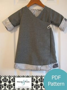 Sweet Wrap Reversible Dress pattern and tutorial 12m-6T kimono style EASY SEW. $6.00, via Etsy.