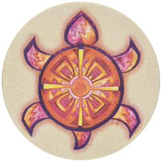 Thirstystone Stoneware Indian Turtle Coaster, Multicolor * See this great image  : Kitchen Utensils and Gadgets