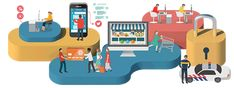 Animated internet safety illustrations feel desain Jing Zhang James Wignall11