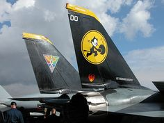 Felix the Cat on F-14 Tomcat tail by Goldenpixel, via Flickr
