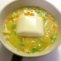 崩しながら食べると、この時期にぴったりの優しい味に。 - 9件のもぐもぐ - 温奴in中華風コーンクリームスープ by yuucook