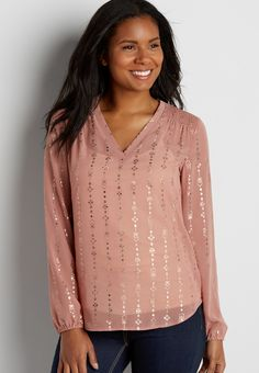 Blouse- I cannot always find a blouse that fits this well, because I am slim on top and long waisted, but I sure would like to own more light tops like this with a bit of shine