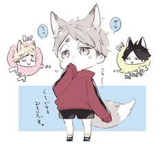 Haikyuu Manga, Manga Anime, Haikyuu Funny, Haikyuu Fanart, Anime One, Anime Guys, Anime Naruto, Kawaii Chibi, Cute Chibi