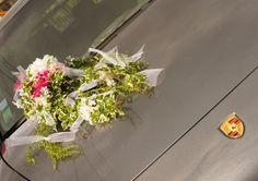 Composition florale fleurs artificielles sur ventouse voiture mariage  : Accessoires de maison par artifleurs sur ALittleMarket