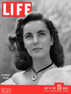 July 14, 1947: Elizabeth Taylor. Photograph by Robert Landry