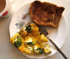 spinach and cheese frittata.