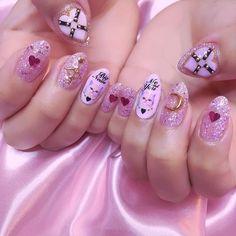 New nails pink glitter gel nailart ideas Rose Nail Art, Rose Nails, New Nail Art, 3d Nails, Pink Nails, Acrylic Nails, 3d Nail Designs, Nails Design, Glitter Gel
