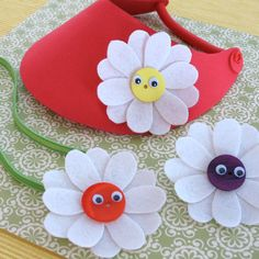 Create a Fantastical Felt Flowers, a craft inspired by the movie Alice in Wonderland, with step by step instructions provided by Disney Family.