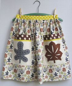 Chintz Aprons with Appliqued & Embroidered Pockets apron-waverly-leaf-front