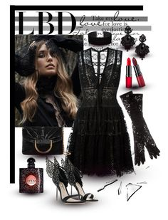 """Little Black Dress"" by giovanina-001 ❤ liked on Polyvore featuring Elie Saab, Dolce&Gabbana, STELLA McCARTNEY, Tasha, Rimmel, Yves Saint Laurent and Miss Selfridge"