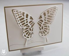 Schmetterlingskarte nur teilweise gestanzt