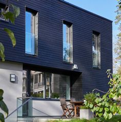 Arkitektprosjekt Maries vei - Skaara Arkitekter AS Detached House, Home Fashion, Modern Architecture, Extension Ideas, House Styles, Architects, Outdoor Decor, Houses, Home Decor