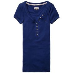 Das lässige T-Shirt Lola von Hilfiger Denim lässt sich trendig mit Jeans im aktuellen Used-Look kombinieren. 94% Baumwolle, 6% Elastan...