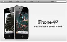 iPhone 4cf – Apple hit by The Yes Mens' fake ad promoting conflict free production.