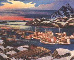 Axel Revold Fiskevær i Lofoten Lofoten, Goblin, Troll, Vikings, Fairy Tales, Romantic, Painting, Art, Summer Recipes