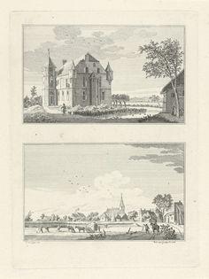 Huis Magerhorst en het dorp Duiven, Paulus van Liender, 1762 Vintage World Maps
