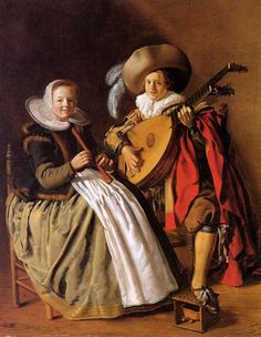 Jan Miense Molenaer (Dutch, 1610 -1668) ~ Music Making Couple ~ Jan Miense Molenaer, was a Dutch Golden Age genre painter whose style was a precursor to Jan Steen's work during Dutch Golden Age painting.