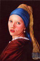 girl with a pearl earring - ballpoint pen - VianaArts's deviantART Gallery