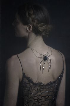 Halloween Gala Celebration....* backside spider adornment *. #gothic princess