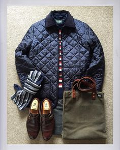 The.Daily.Obsessions — Today's Outfit.   #Lavenham Denham Quilting Jacket...