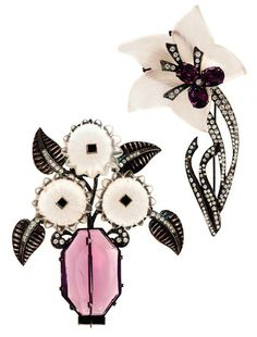 TWO ART DECO BROOCHES, BY JDB  PROBABLY 1920S-1930S, THE COLLECTION OF ELIZABETH TAYLOR