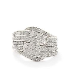 1ct Certified Diamond Sterling Silver Ring