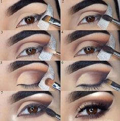 Gorgeous Makeup: Tips and Tricks With Eye Makeup and Eyeshadow – Makeup Design Ideas Eye Makeup Steps, Natural Eye Makeup, Beauty Make-up, Beauty Hacks, How To Apply Eyeliner, Makeup Step By Step, Gorgeous Makeup, Eye Make Up, Cool Eyes