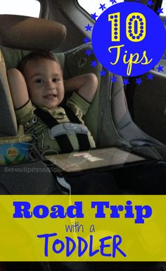 Surviving a road trip with a toddler!  Great tips for taking a long car ride with young kids!