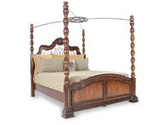 LCF-1080/QU/CANOPY - Legacy Royal Traditions Queen Canopy Bed | Mathis Brothers Furniture