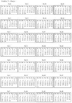 Julian Date Calendar 2015