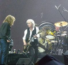 2007 Ahmet Ertegun Tribute Concert (a.k.a. Led Zeppelin Reunion) at O2 Arena, London.  Robert Plant, Jimmy Page, Jason Bonham.  Image is from the movie trailer.